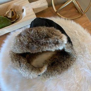 Kangol Trapper Bomber Lined fur hat
